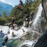 Canyoning in Tessin, Switzerland