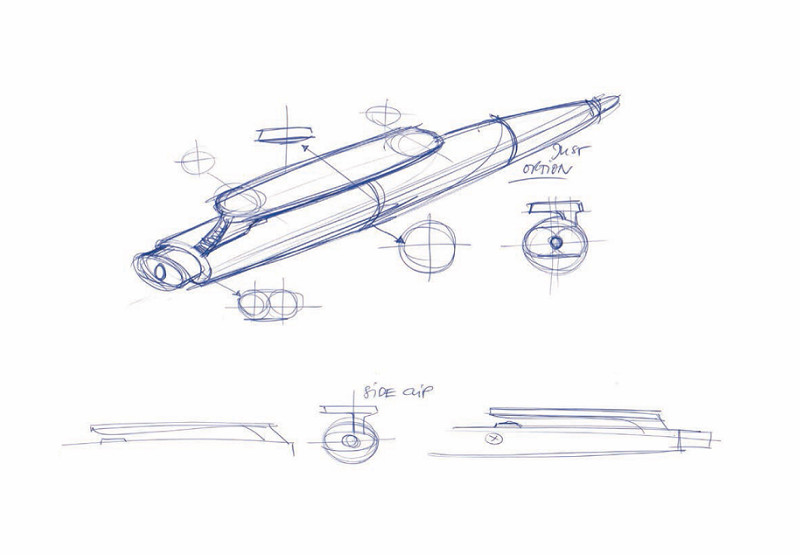 Prodir DS9 pen - Sketch from the designer
