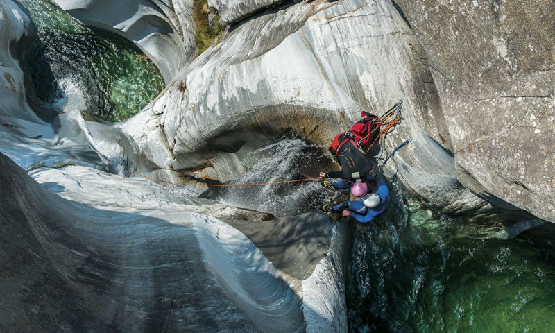 Canyoning in Ticino, Switzerland