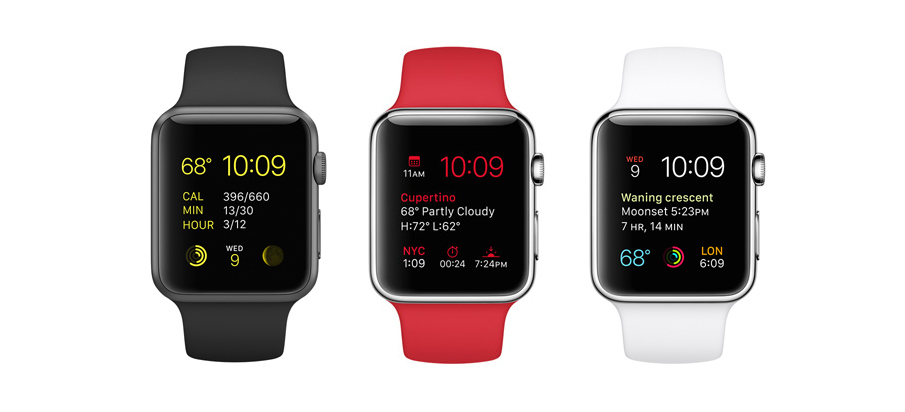 Apple Watches featuring san francisco typeface font