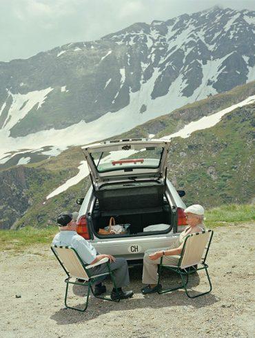 """""""View of a car picnic"""", Passo della Novena, Ticino, Switzerland - by Igor-Ponti"""