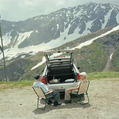 """View of a car picnic"", Passo della Novena, Ticino, Switzerland - by Igor-Ponti"