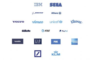 companies brand in blue