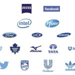 companies logos in blue