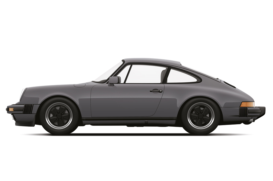 Porsche 911 Carrera grey by Petrolified