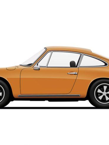Porsche 911 Carrera orange by Petrolified