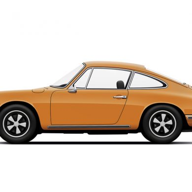 Porsche 911 Carrera orange by Petrolified