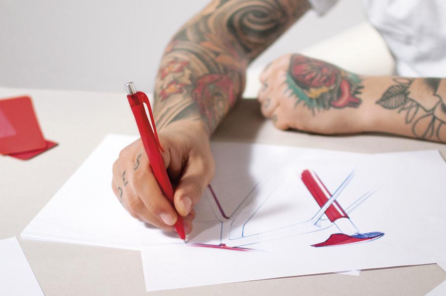 Prodir retail pens presented at the Milan Design Week 2017